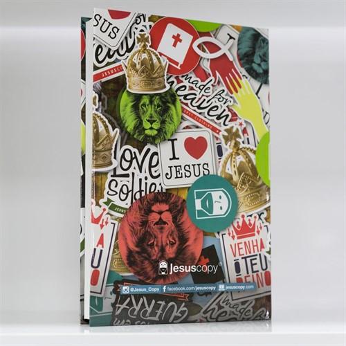 Bíblia JesusCopy – capa dura/ Adesivos – NVT