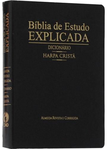 Bíblia De Estudo Explicada Harpa E Dicionário Preto