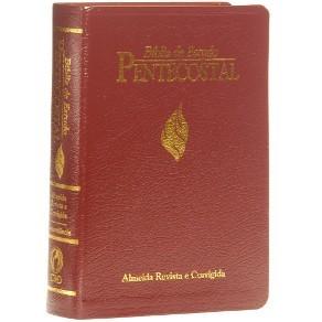 Bíblia De Estudo Pentecostal Média Vinho Luxo