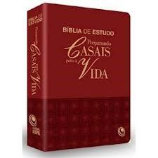 BÍBLIA DE ESTUDO PREPARANDO CASAIS para a VIDA Letra Gigante PU Bordô