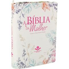 BÍBLIA DA MULHER MEDIA COM ZÍPER- CREME FLORIDA COM ÍNDICE-RA
