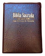 Bíblia Cantor Letra Grande Zíper Vinho Revista e Corrigida