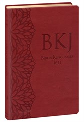 Bíblia King James Ultra Fina Luxo Gigante Vinho