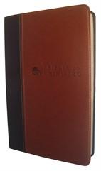 Bíblia do Ministro Marrom Claro/Escuro Luxo