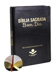 Bíblia NTLH Bom dia Couro Sintético Preta