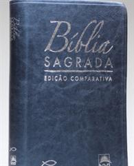 BÍBLIA COMPARATIVA EXTRA GIGANTE COURO SINTÉTICO AZUL - RC/NVI