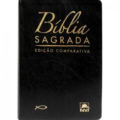 BÍBLIA COMPARATIVA EXTRA GIGANTE COURO SINTÉTICO PRETO - RC/NVI