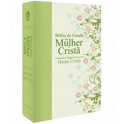 Bíblia de Estudo da Mulher Cristã Verde - média com Harpa