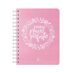 Meu Plano Perfeito - Capa Tecido Rosa