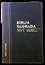 Bíblia NVT Letra Grande Luxo Bi-Color Preto com Marrom