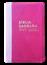 Bíblia NVT Letra Grande Luxo Bi-Color Pink Costura com Rosa
