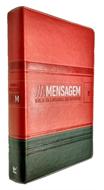 BÍBLIA A MENSAGEM LUXO-LARANJA/VERDE