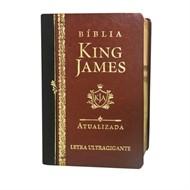 BÍBLIA KING JAMES ATUALIZADA LETRA ULTRA GIGANTE COURO SINTÉTICO MARROM/PRETO