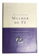 BÍBLIA DE ESTUDO DA MULHER DE FÉ LUXO VIOLETA/BEGE - COM ÍNDICE
