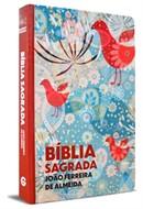 Bíblia Semi-Luxo Estampada Pássaro Grande Revista Corrigida Com Mapa e Panorama Bíblico
