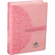 Bíblia Letra Grande Rosa Beira Florida
