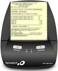 Impressora FISCAL MP-4000 sem Modem - Homologada São Paulo com Vale Lacração -  Bematech