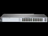 HP Aruba Switch 1820-24G-PoE+ 24 portas 10/100/1000Mbps RJ45 (12x PoE) + 2x SFP (PoE max. 185W) J9983A