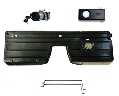 Tanque plástico duplo Jeep Willys (Preto) - KIT43