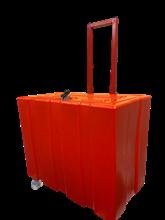 Caixa Organizadora com Rodinhas (VERMELHA) - CLAKIT323