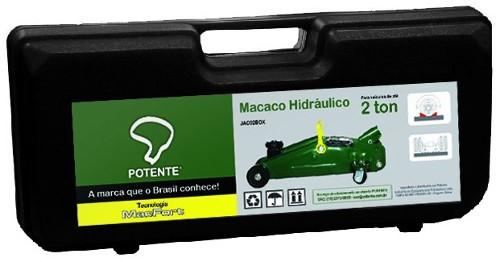 MACACO JACARE HIDRAULICO 02 TON C/ ALCA MALETA PLAST
