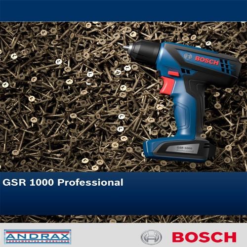 PARAFUSADEIRA/FURADEIRA GSR 1000 BATERIA 12.0v - BIVOLT 110v/220v BOSCH