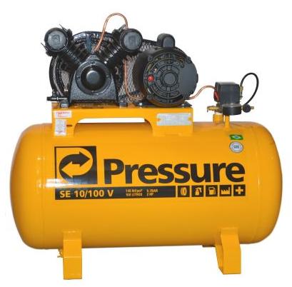 COMPRESSOR PROF. 10PÉS/100L 140LB 02.0HP 110/220V MONOF - PRESSURE - 46641