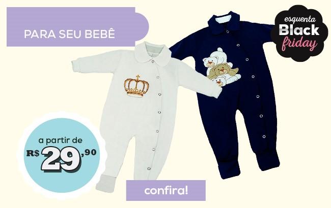 Macacão para seu bebê a partir de 29,90