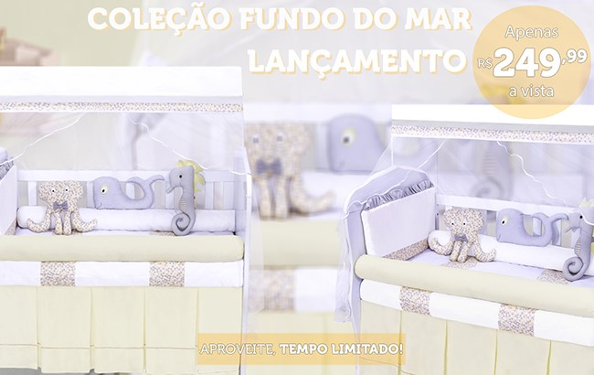 KIT BERCO FUNDO DO MAR AMARELO