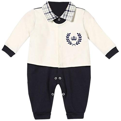 Macacão para Bebê Manga Longa Coroa Premium