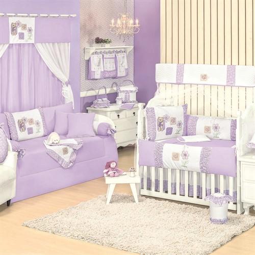Quarto para Bebê Sem Cama Babá Ursa Florista