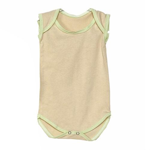 Body para Bebê Palha com Verde