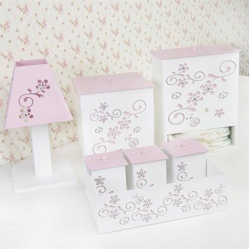 Kit Higiene Completo Fiori Rosa