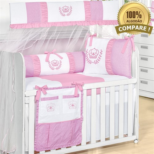 Kit Berço Realeza Rosa Baby