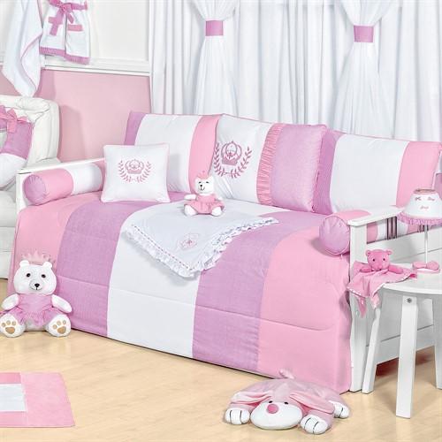 Kit Cama Babá Realeza Rosa Baby
