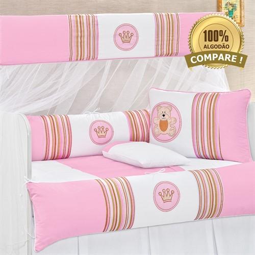 Kit Berço Coroa Baby Rosa
