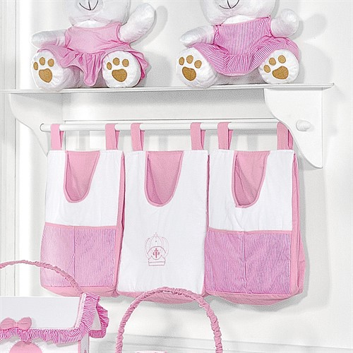 Porta Fralda de Varão Realeza Rosa Baby