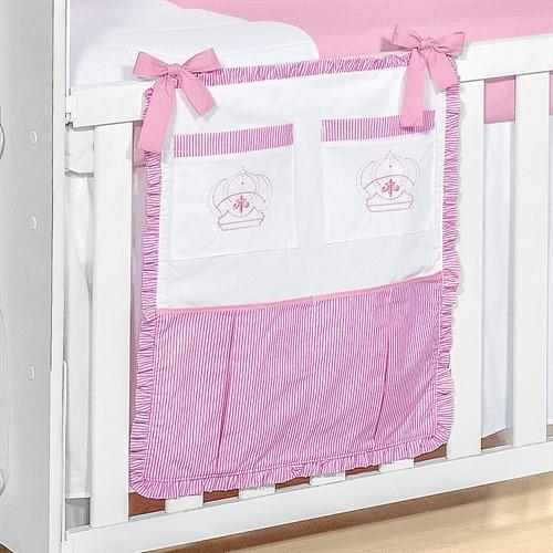 Porta Treco para Berço Realeza Rosa Baby