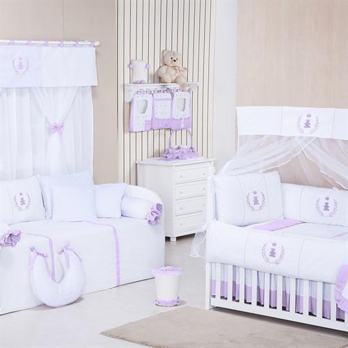 Quarto para Bebê Sem Cama Babá Realeza Lilás