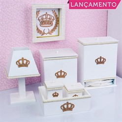 Kit Higiene Completo Realeza Rosa
