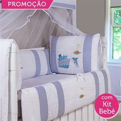 KIT BERÇO MARITIMUS 19 PEÇAS