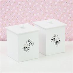 Conjunto de Potes Glamour Butterfly MDF