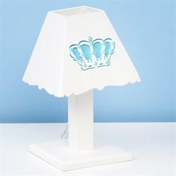 Abajur Belly Coroa Azul MDF