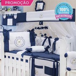KIT BERÇO TEDDY LOVELY MARINHO 10 PEÇAS