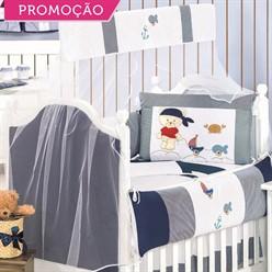 KIT BERÇO URSO NÁUTICO 10 PEÇAS