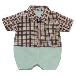 Macacão para Bebê Xadrez Leonardo