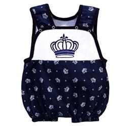 Macacão para Bebê Coroa Luxo