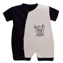 Macacão para Bebê Manga Curta Polo