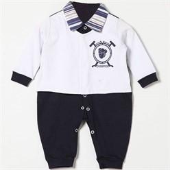 Macacão para Bebê Manga Longa Polo