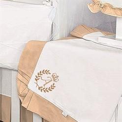 Manta Piquet Feito a Mão Palha